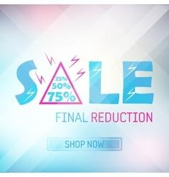 spring sale banner bright background poster vector image