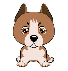 Staffordshire terrier dog vector