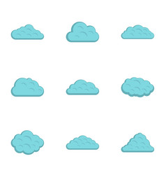 storm cloud icon set flat style vector image