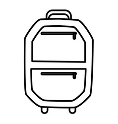 Suitcase isolated symbol vector
