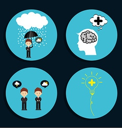 think icons vector image