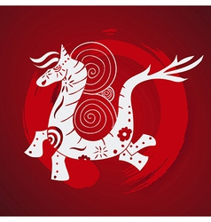 Traditional chinese horse new year 2014 vector