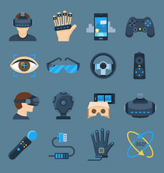 virtual reality device set vector image