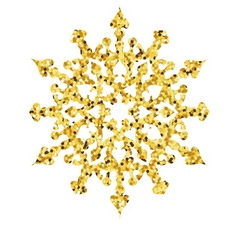 Christmas gold card with snowflake vector