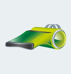Modern green whistle vector