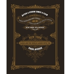 Set of vintage labels elements by layers vector