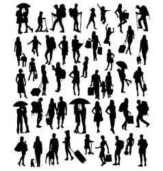 Activities silhouette people vector