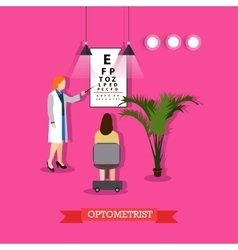 Optometrist checking vector