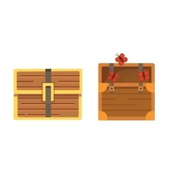 Cute set of diferent chests cartoon vector