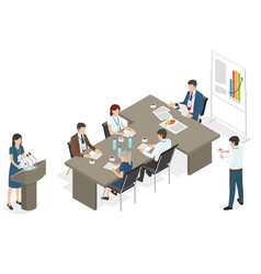Business people on meeting at office vector
