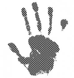 halftone hand vector image