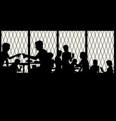 Restaurant window vector
