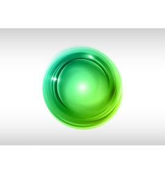 abstract circle green vector image