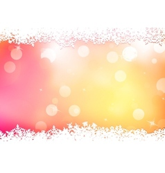 Christmas pink background with snow flakes EPS 10 vector image