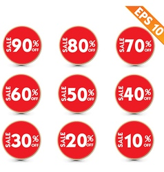 Sale stitch sticker price tag - - eps10 vector