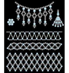 Bead adornments vector