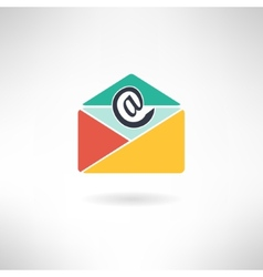 Internet mail in modern flat design vector