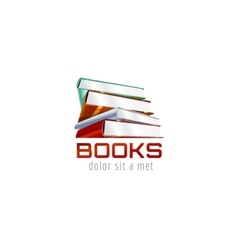 Book template logo icon back to school education vector