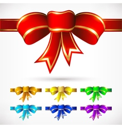 Colorful bows for various options vector
