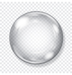 Big transparent glass sphere vector