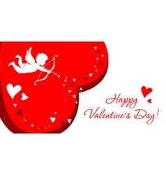 Greeting card with angel for Valentines Day vector image