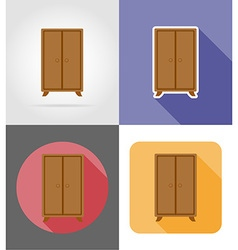 Furniture flat icons 21 vector
