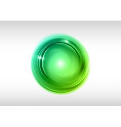abstract circle green vector image vector image