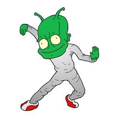 Alien character dancer vector