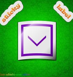 Arrow down download load backup icon sign symbol vector