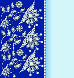 background with a silver flowers vector image vector image