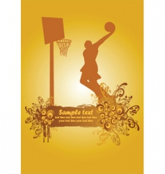 basketball poster3 vector image vector image