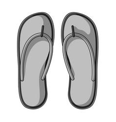 beach flip flopssummer rest single icon in vector image vector image