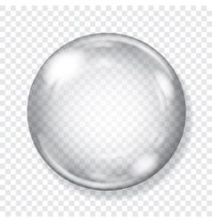 Big transparent glass sphere vector