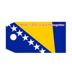 bosnia and herzegovina flag on price tag vector image vector image