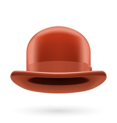 Brown bowler hat vector image vector image