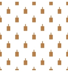 Brown cutting board pattern cartoon style vector