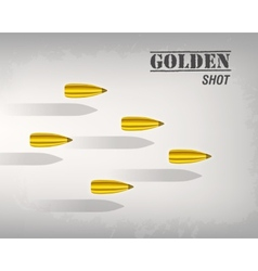 bullet background concept vector image vector image
