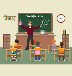 chemistry lesson classroom vector image vector image