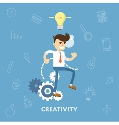 Creative ideas business concept vector image vector image