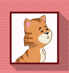 cute tiger frame picture vector image