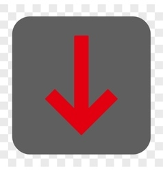 Down arrow rounded square button vector
