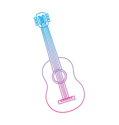 guitar acoustic icon image vector image