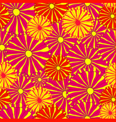 hand drawing bright decorative wild flowers vector image