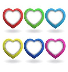 Heart 3d button vector image