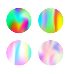 Holographic abstract backgrounds set vector