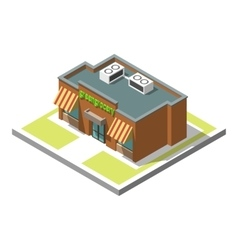 Isometric icon infographic 3d building vector