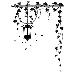 ivy border with street lamp vector image