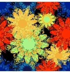 mandala pattern Oriental 2 vector image
