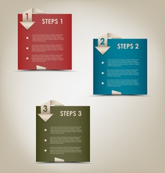 Modern origami steps progress background vector