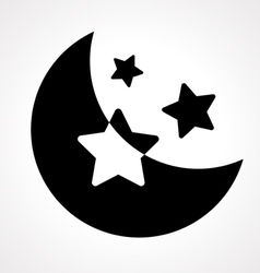 Moon night vector